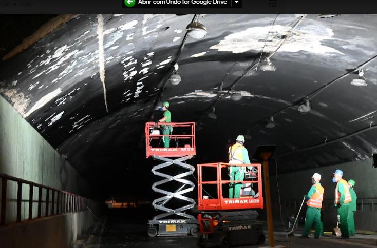 Seconser fará melhoria técnica em iluminação dos túneis Roberto Silveira e Raul Veiga